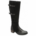 Black Banes Suede & Leather Knee High Boots | Ravel