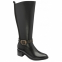 Black Lajas Leather Knee High Boots | Ravel