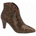 Brown Snake-Print Levisa Leather Ankle Boots | Ravel