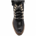 Black Pinar Leather Lace-Up Ankle Boots | Ravel