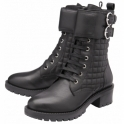 Black Rosario Milled Leather Mid-Calf Boots | Ravel