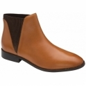Dark Tan Sabalo Leather Ankle Boots | Ravel
