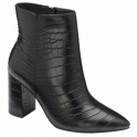 Black Croc-Print Soriano Ankle Boots | Ravel