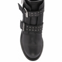 Black Troya Milled Leather Ankle Boots | Ravel