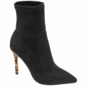 Black Del Sur Stiletto Heel Pull-On Boots | Ravel