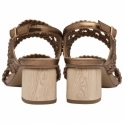 Bronze Kimia Heeled Sling-Back Sandals | Ravel