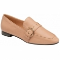 Nude Ramona Almond-Toe Loafers  | Ravel