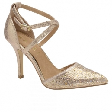 Rose Gold Rainsville Heeled Pumps | Ravel