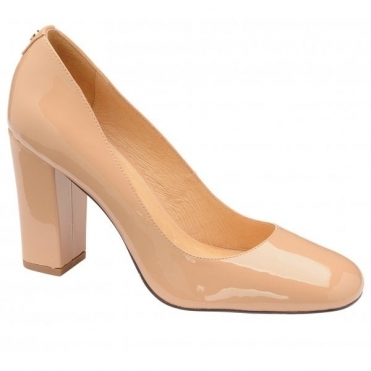 Nude Baldwin Patent Court Shoes | Ravel