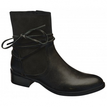 481a5fa84b1 Black Marshall Leather Ankle Boots