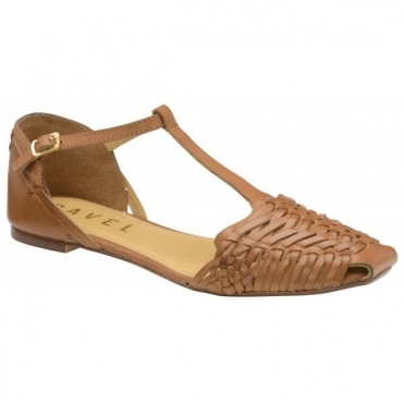 Tan Calhoun Leather Flat Sandals | Ravel