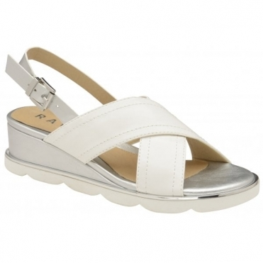 White Malone Wedge Slingback Sandals | Ravel