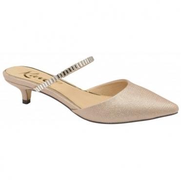 dc3ea2d412 Rose Odessa Kitten Heel Mule Shoes | Ravel ...