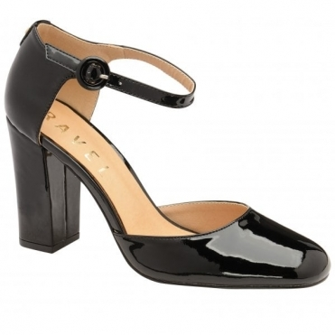 Black Atlantis Patent Ankle-Strap Mary-Jane Shoes | Ravel