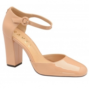Nude Atlantis Patent Ankle-Strap Mary-Jane Shoes | Ravel