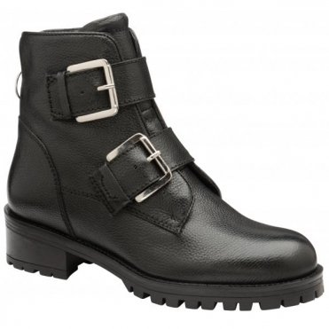 Black Darfield Leather Zip-Up Ankle Boots | Ravel