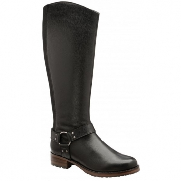 Black Willowby Leather Knee High Boots | Ravel