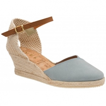 Pale Blue Springwood Espadrille Wedge Sandals | Ravel