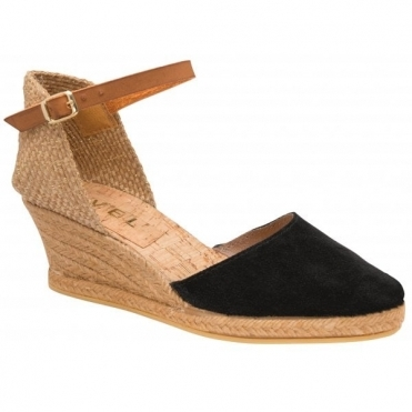 Black Etna II Espadrille Wedge Sandals | Ravel