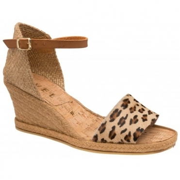Leopard-Print Roma Espadrille Wedge Sandals | Ravel