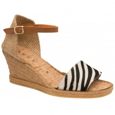 Zebra-Print Roma Espadrille Wedge Sandals | Ravel