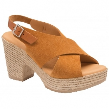 Tan Yuna Suede Peep-Toe Sandals | Ravel