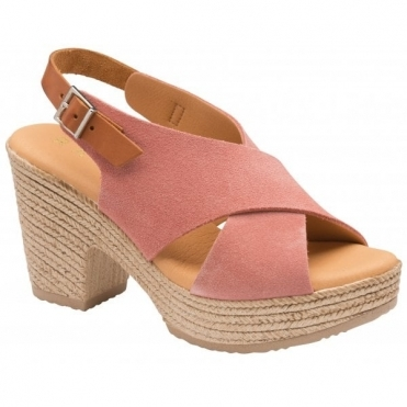 Blush Yuna Suede Peep-Toe Sandals | Ravel