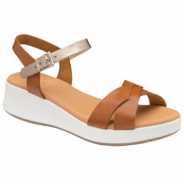 Tan Kilcoy Leather Open-Toe Sandals | Ravel