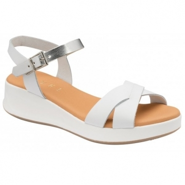 White Kilcoy Leather Open-Toe Sandals | Ravel