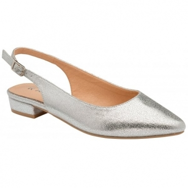 Silver Highlands Slingback Flat Shoes | Ravel