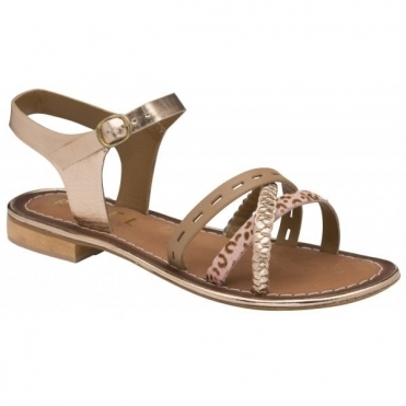 Birch Cudal Leather Flat Sandals | Ravel
