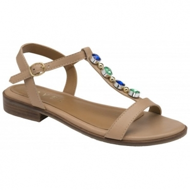 Nude Kandos Leather Flat Sandals | Ravel
