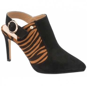 Black & Zebra-Print Bayamo Pointed-Toe Shoes | Ravel