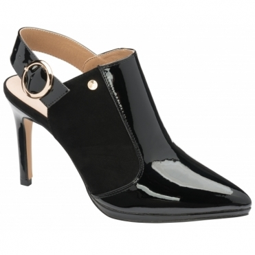 Black Bayamo Patent & Suede Pointed-Toe Shoes | Ravel