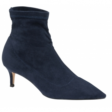 Navy Madruga Pointed-Toe Sock Boots | Ravel