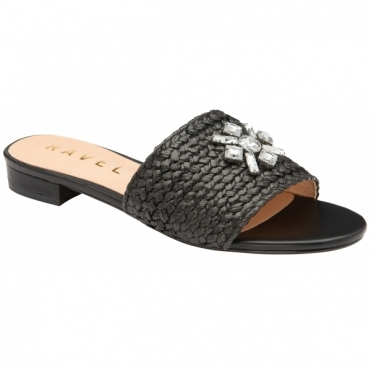 Black Esme Slip-On Sandals | Ravel