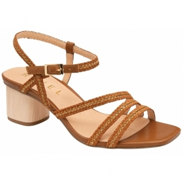 Tan Milana Heeled Sandals | Ravel