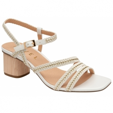 White Milana Heeled Sandals | Ravel