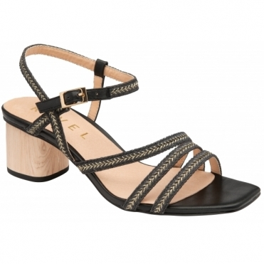 Black Milana Heeled Sandals | Ravel