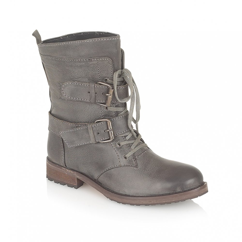 Ravel Haste Ankle Boots Grey Leather - Ravel from Ravel UK