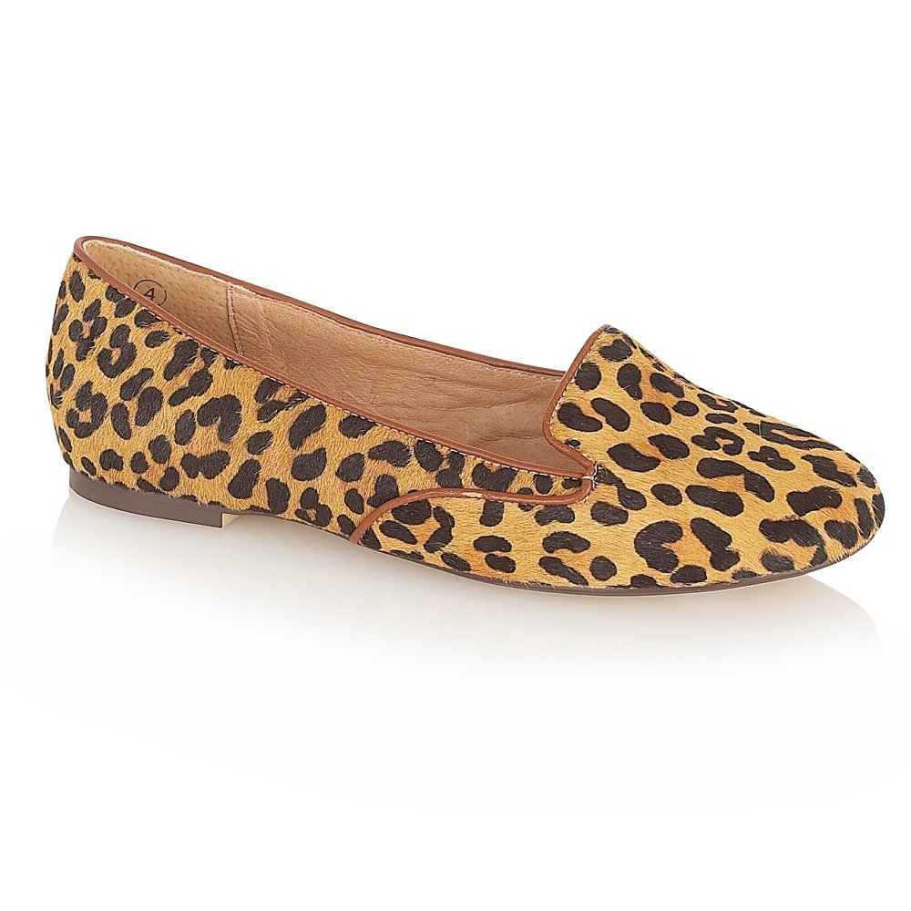 Animal Print Wedge Heel Shoes