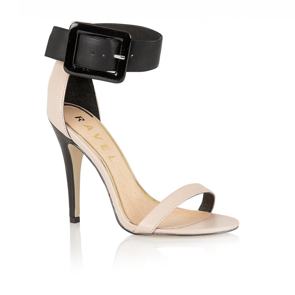 Buy Ravel Ladies Jasmine Sandals Online Nude Black Leather