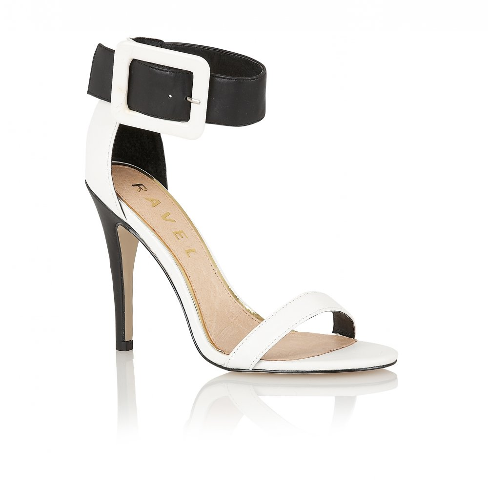 1569ea10305 Buy Ravel 65 ladies sandals online in white black leather