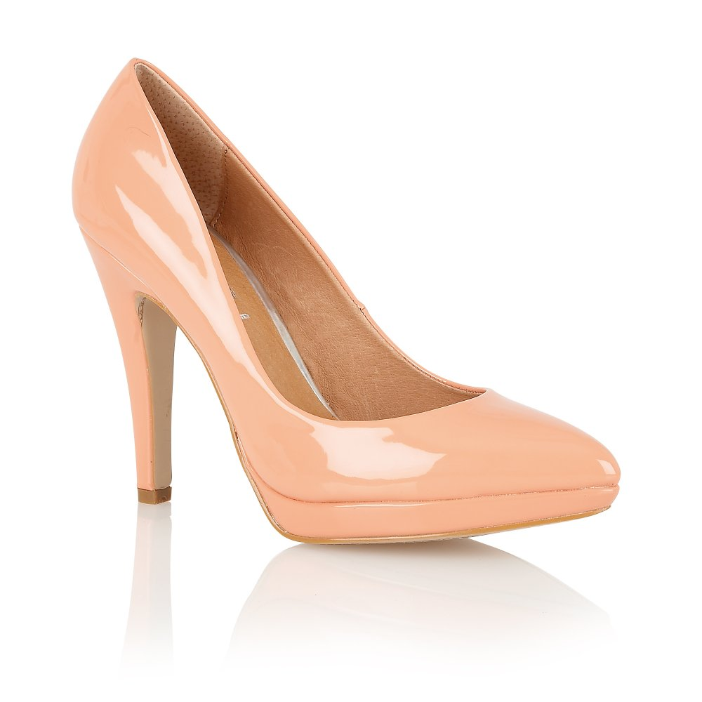 Buy Ravel Ladies Snapdragon Court Shoes Online In Peach Patent