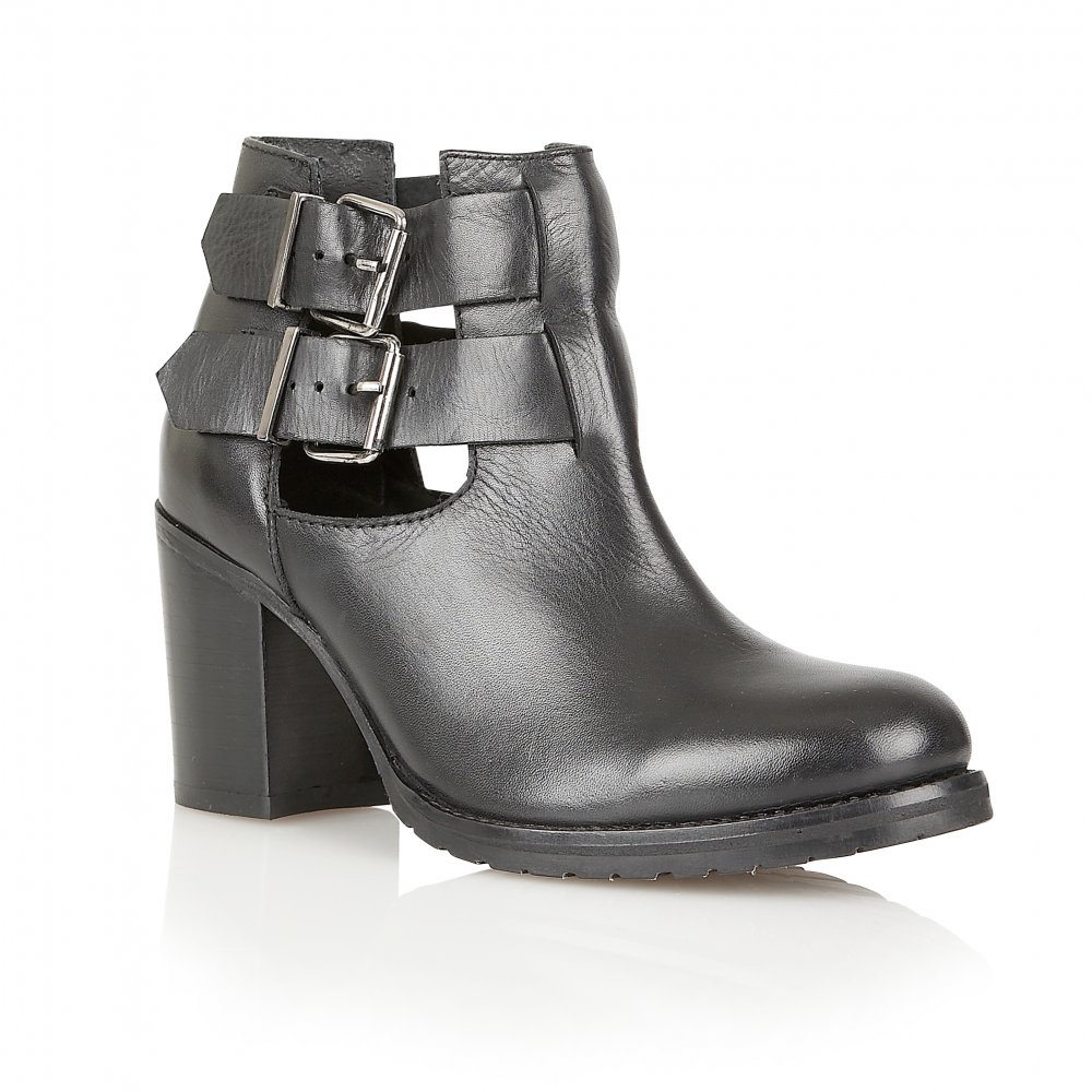 Ravel Montana Ankle Boots Black Leather
