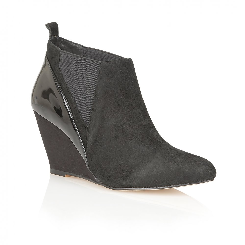 buy ravel indiana wedge ankle boots in black