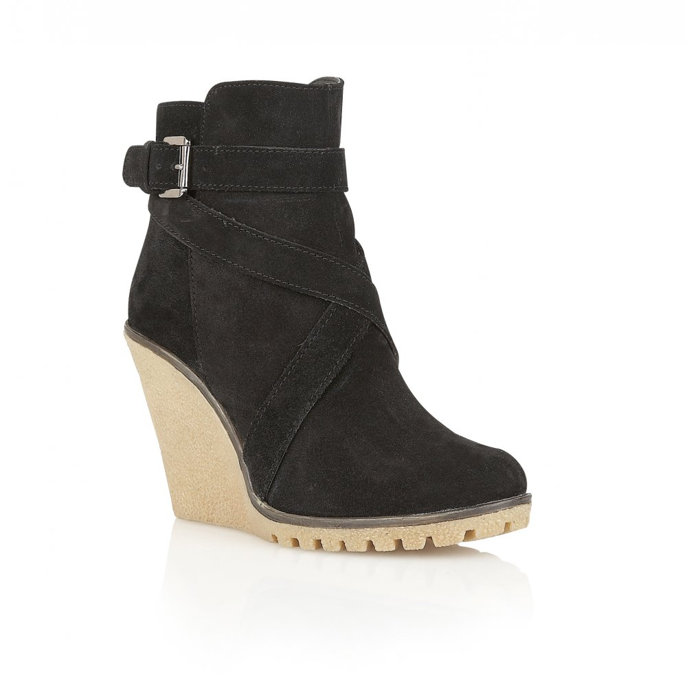 buy ravel alaska wedge ankle boots in black