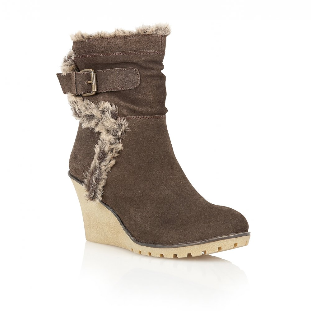 buy ravel alabama wedge ankle boots in brown