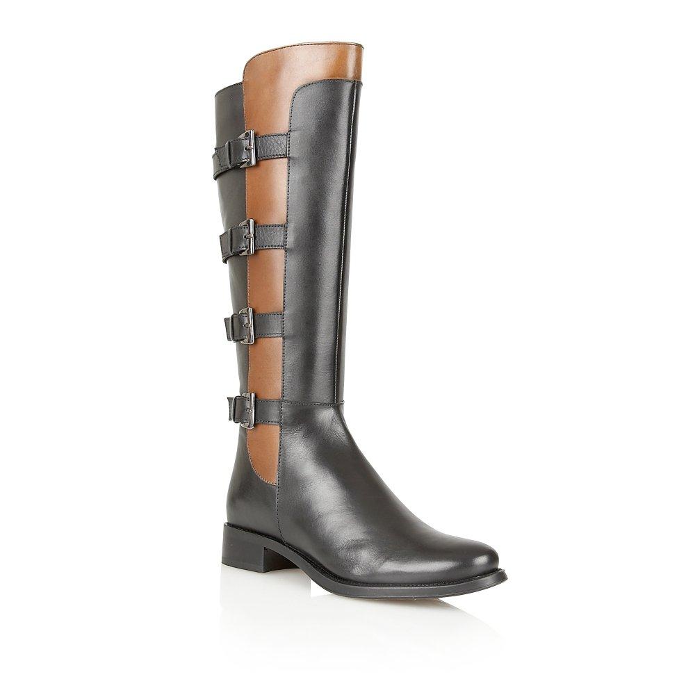 2c0b92ab70ae Buy Ravel ladies Parkwood knee high boots online in black tan leather