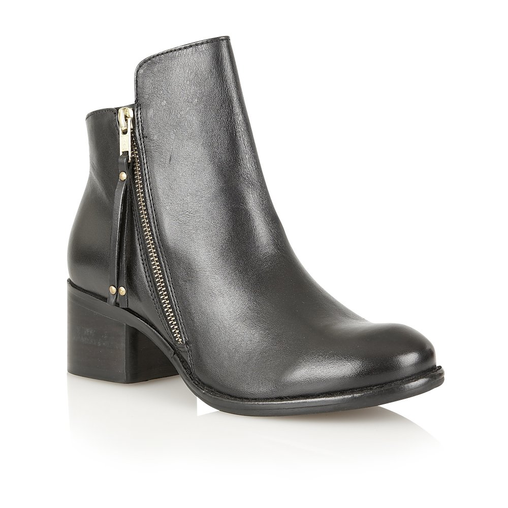 buy ravel kansas ankle boots in black leather